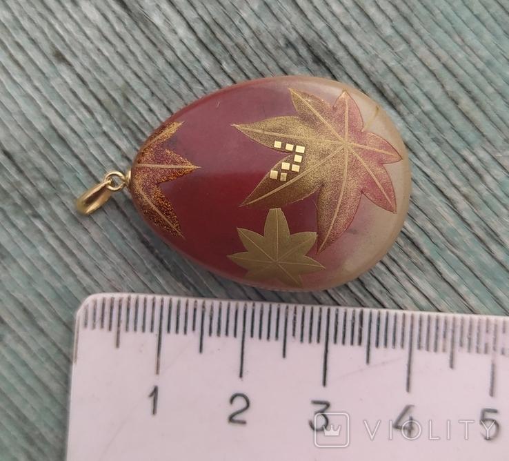 Кулон маки-э, золото 18 карат, Япония., фото №9
