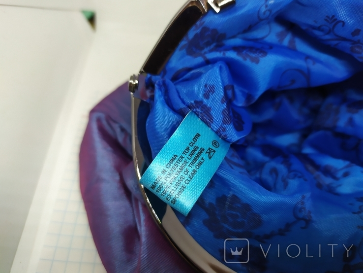 Вечерняя сумочка из тафты на цепочке. 16х15см без ручки. Новая, фото №9