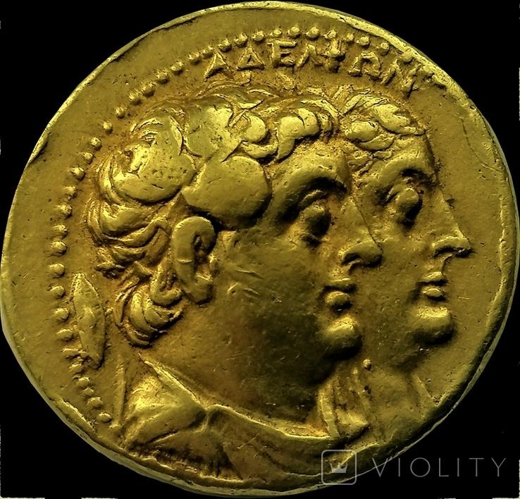 Октодрахма Птолемея IІ, Египет, Александрія. 282-246 рр. до н. ери, золото, фото №2