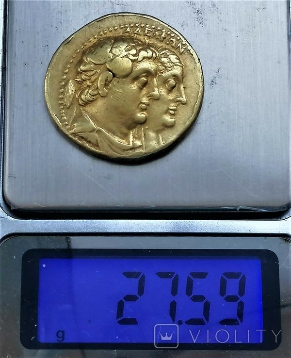 Октодрахма Птолемея IІ, Египет, Александрія. 282-246 рр. до н. ери, золото, фото №4