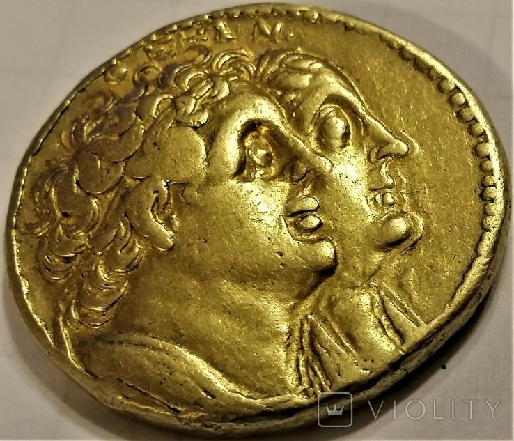 Октодрахма Птолемея IІ, Египет, Александрія. 282-246 рр. до н. ери, золото, фото №7