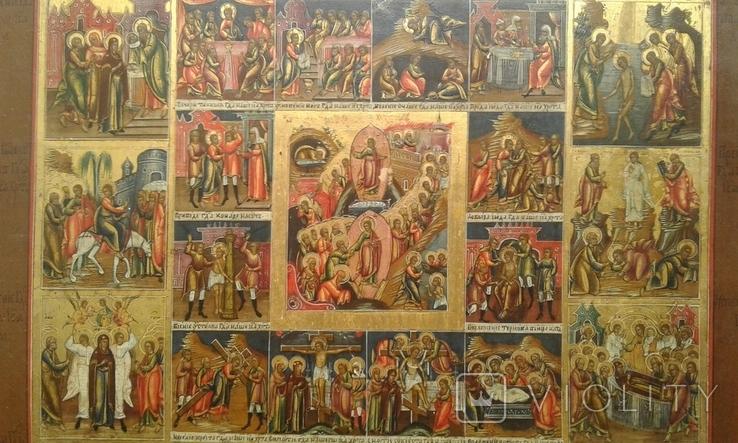 Икона Праздники с Воскресением, Страстями Господними. Ковчег, фото №4