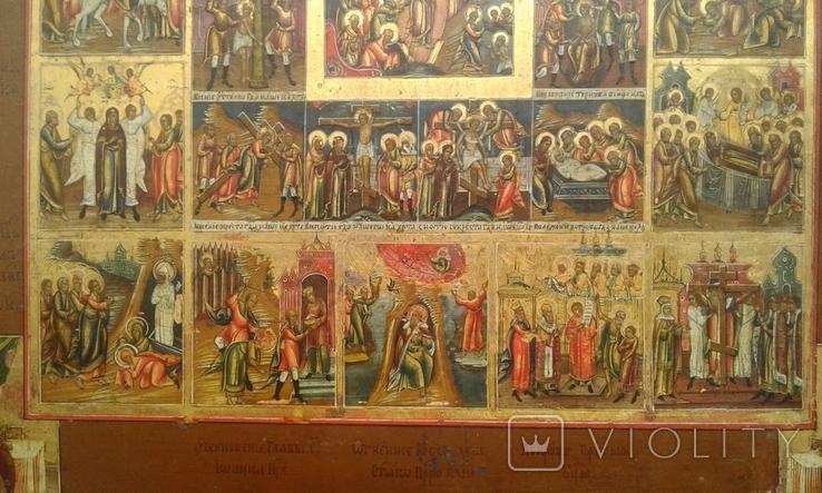 Икона Праздники с Воскресением, Страстями Господними. Ковчег, фото №5