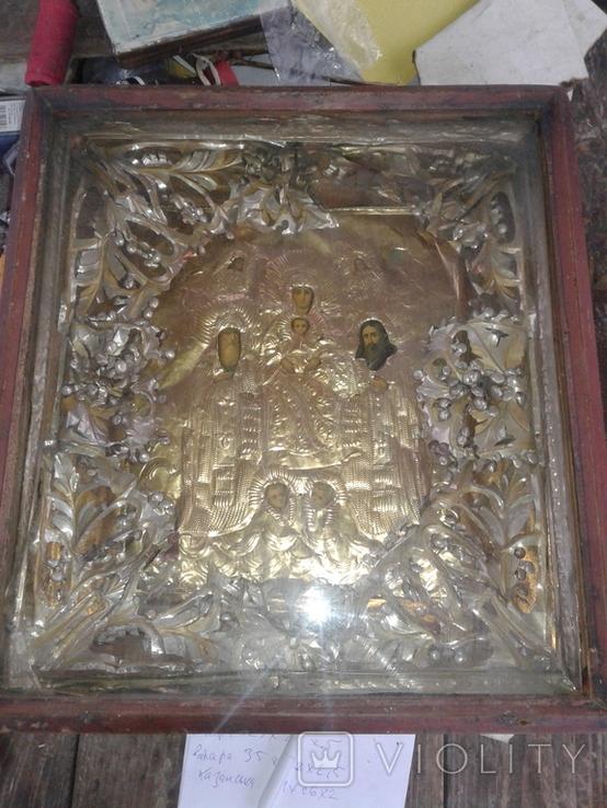 Икона Печерская БМ в киоте, фото №2
