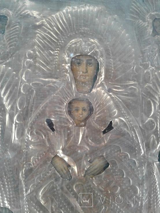 Икона Печерская БМ в киоте, фото №4