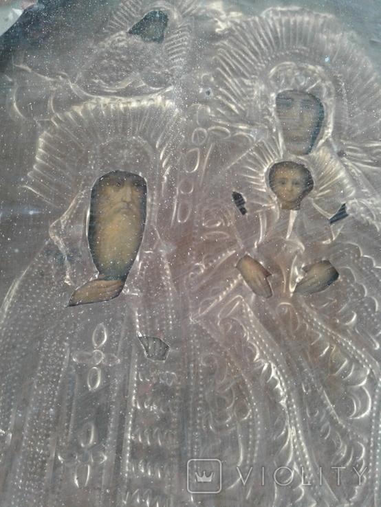 Икона Печерская БМ в киоте, фото №6