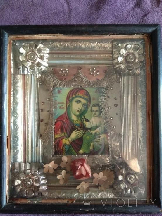 Старинная икона Тихвинская Пресвятой Богородицы, фото №10