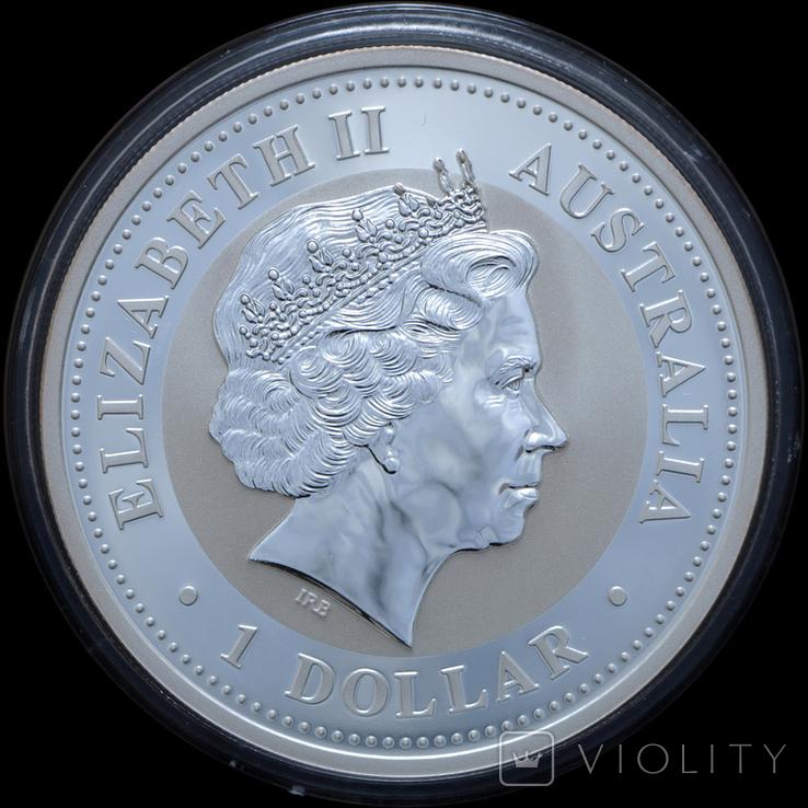 1 Доллар 2008 Кукабарра 1oz, Австралия Унция, фото №3
