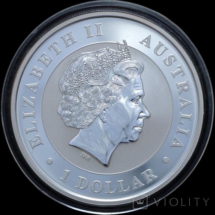1 Доллар 2016 Кукабарра 1oz, Австралия Унция, фото №3