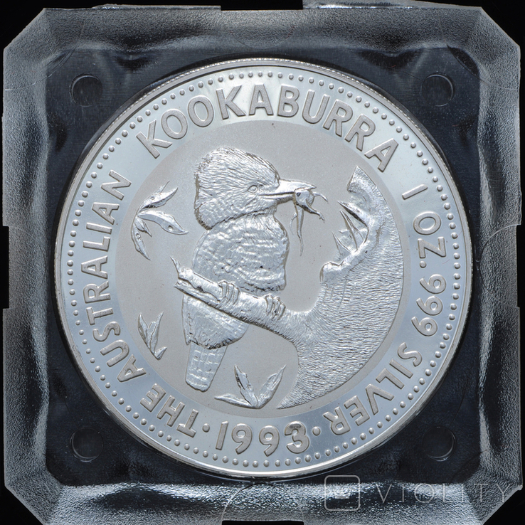 1 Доллар 1992 Кукабарра 1oz, Австралия Унция, фото №2