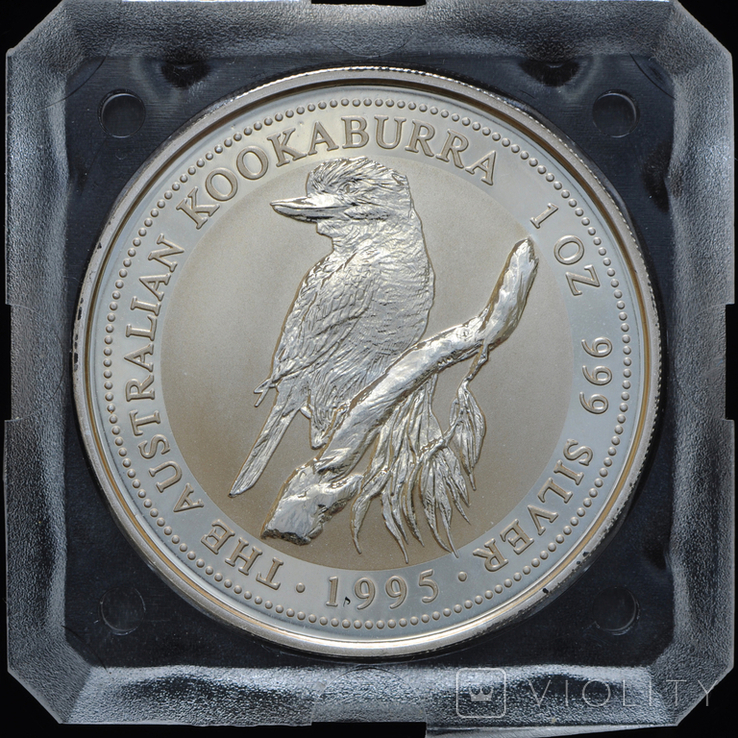 1 Доллар 1995 Кукабарра 1oz, Австралия Унция, фото №2