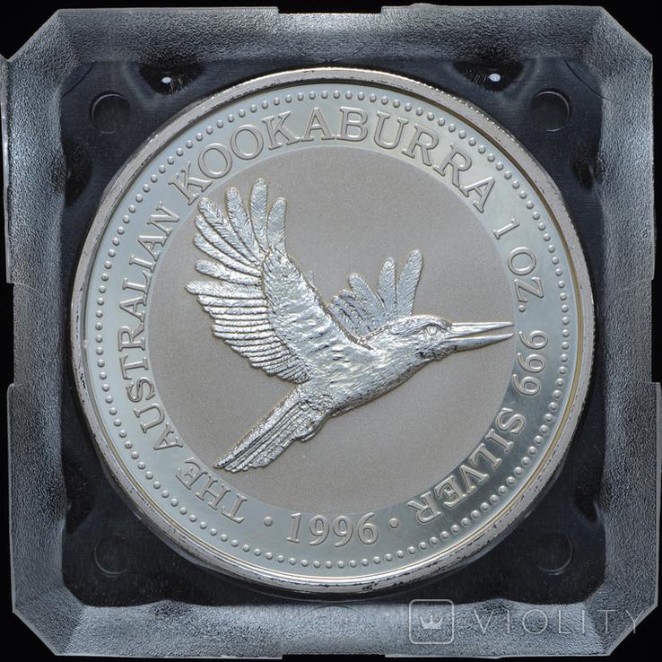 1 Доллар 1996 Кукабарра 1oz, Австралия Унция, фото №2