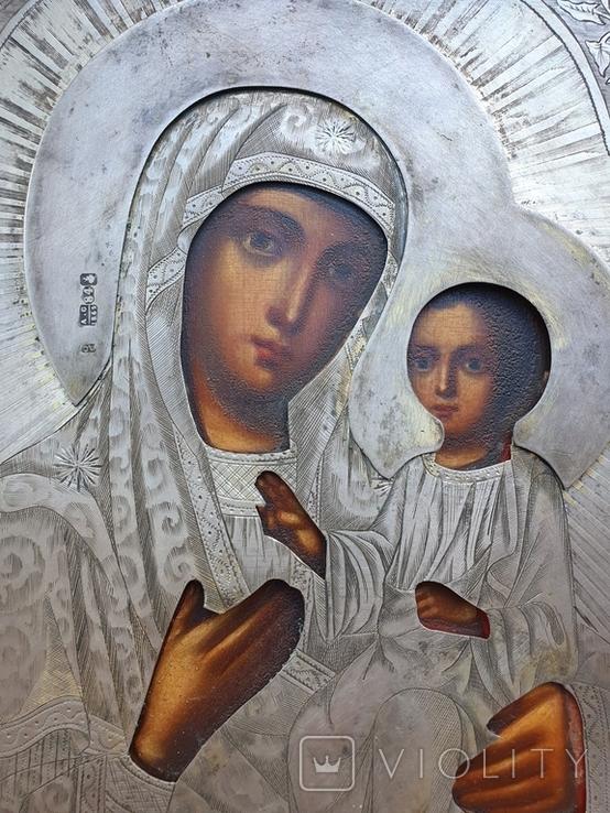 Икона Богородицы Иверская. Серебро 84пр. Модерн., фото №3