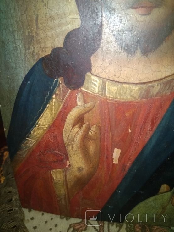 Икона Исус старинная, фото №6