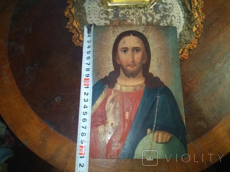 Икона Исус старинная, фото №8
