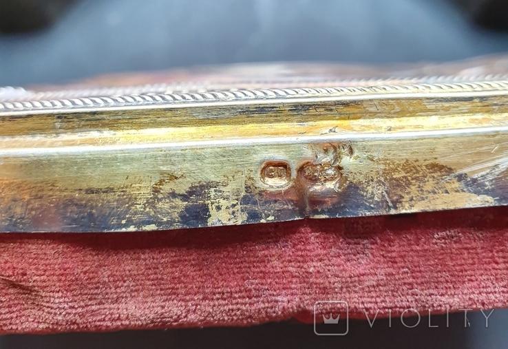 Икона Богородицы. Серебряный кованый оклад 84пр. Аналой., фото №9