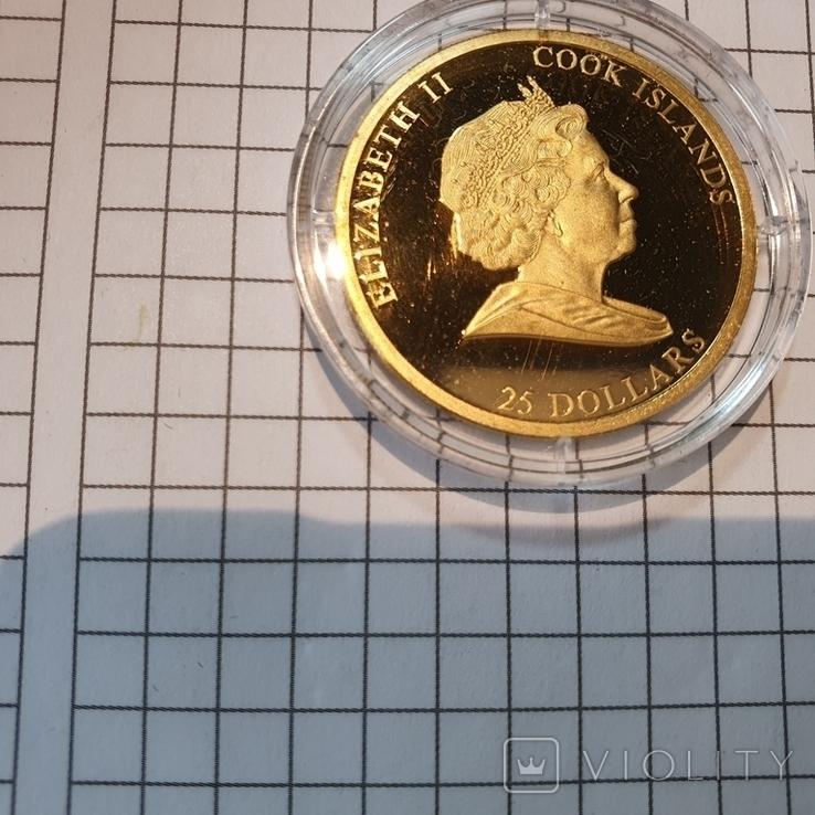 Острова Кука 2011 год 25 10г золота 9999 год Кролика, фото №5