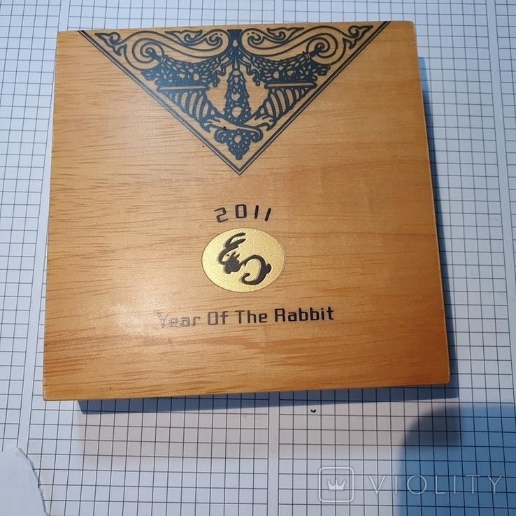 Острова Кука 2011 год 25 10г золота 9999 год Кролика, фото №12