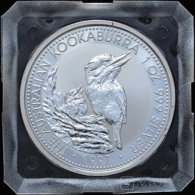1 Доллар 1997 Кукабарра 1oz, Австралия Унция, фото №2