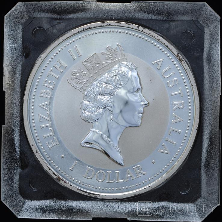1 Доллар 1997 Кукабарра 1oz, Австралия Унция, фото №3