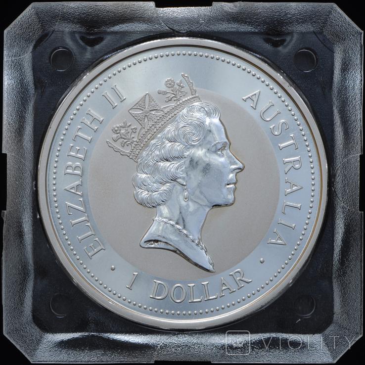 1 Доллар 1994 Кукабарра 1oz, Австралия Унция, фото №3