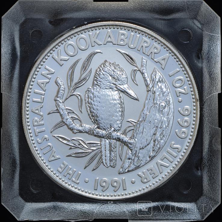 5 Долларов 1991 Кукабарра 1oz, Австралия Унция, фото №2
