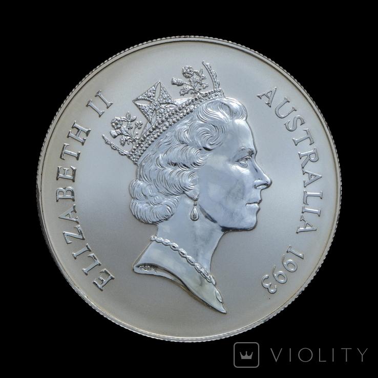 1 Доллар 1993 Кенгуру 1oz, Австралия Унция, фото №3