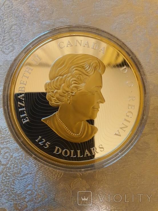 Серебрянная монета 125 Lucky Dragon, фото №3