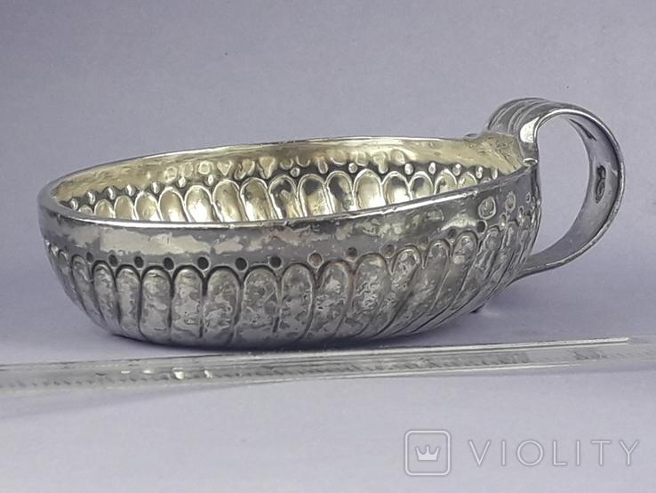 Чаша-тестер для дегустации вина, серебро, 120 гр., Франция, конец XVIII, фото №3