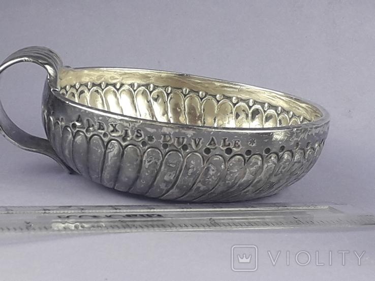 Чаша-тестер для дегустации вина, серебро, 120 гр., Франция, конец XVIII, фото №4