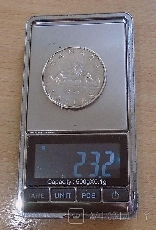 1 доллар Канада 1953 г., фото №3