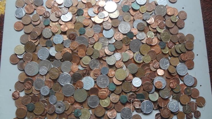 Мегалот. Только иностранные монеты. 573 штуки. без России, СССР, фото №2