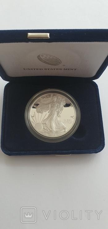 Серебрянная монета американский орёл 2016 W proof, фото №4
