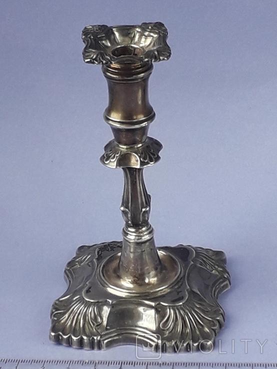 Подсвечник на одну свечу, серебро (с наполнителем), 132 гр., Великобритания, фото №2