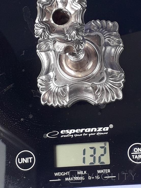 Подсвечник на одну свечу, серебро (с наполнителем), 132 гр., Великобритания, фото №12