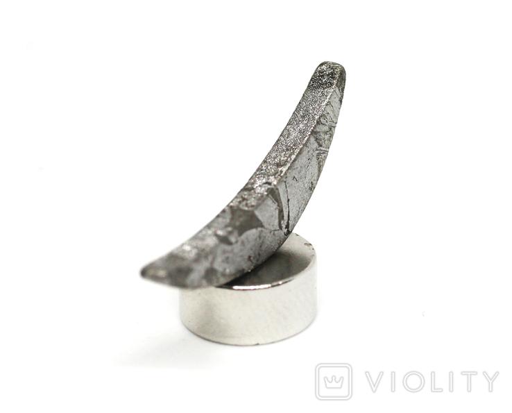 Заготовка-вставка з метеорита Seymchan, 1,6 г, із сертифікатом автентичності, фото №5