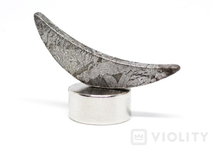Заготовка-вставка з метеорита Seymchan, 1,6 г, із сертифікатом автентичності, фото №6