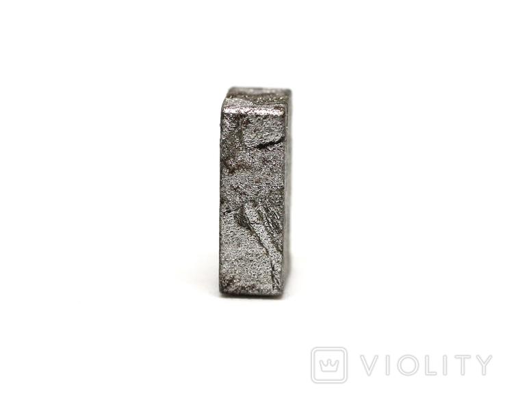 Заготовка-вставка з метеорита Seymchan, 2,1 г, із сертифікатом автентичності, фото №6