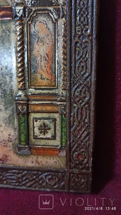 Старинная Икона Господа Иисуса Христа со святыми, фото №6