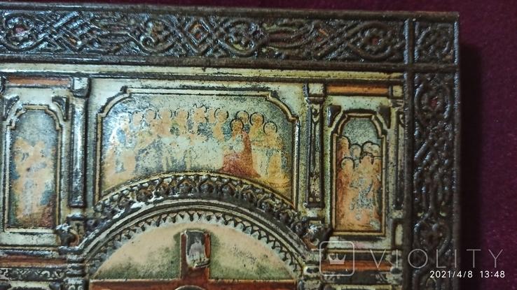 Старинная Икона Господа Иисуса Христа со святыми, фото №7