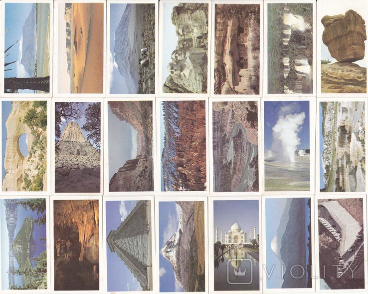 """Карточки-вкладыши коллекционные """"Features of the World""""(38 листов) Англия, фото №2"""