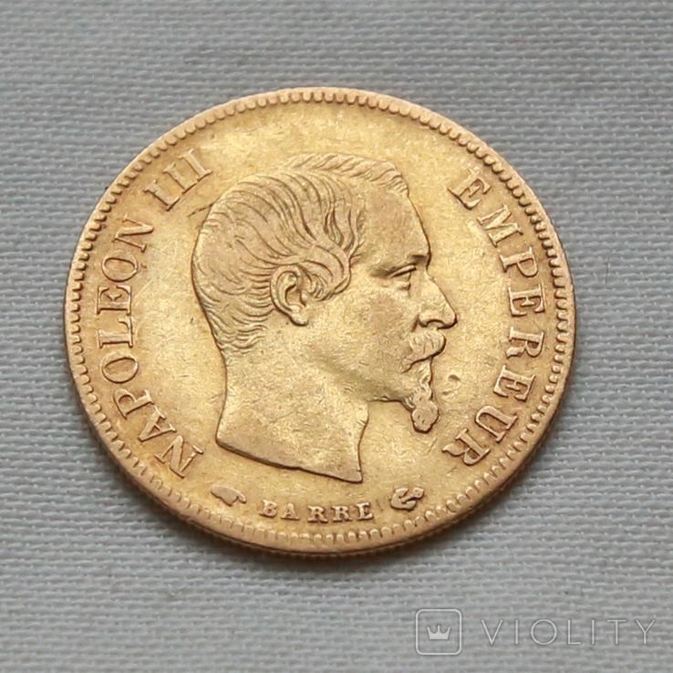 10 франков Наполеон III Франция золото 3.23 г, фото №2