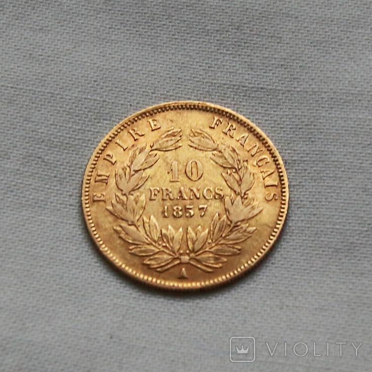 10 франков Наполеон III Франция золото 3.23 г, фото №3