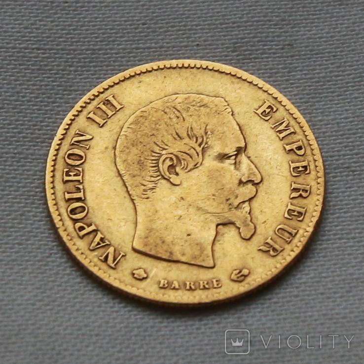 10 франков 1859 г Наполеон III Франция золото 3.20 г, фото №2
