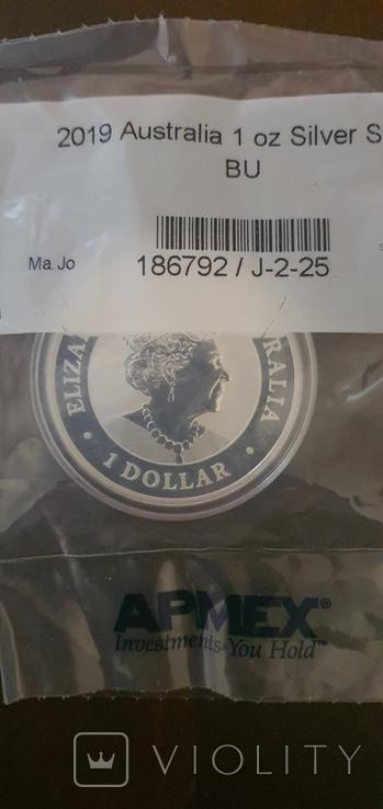 Серебрянная монета Лебедь Австралии 2019, фото №3