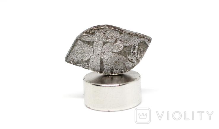 Заготовка-вставка з метеорита Seymchan, 1,3 г, із сертифікатом автентичності, фото №5