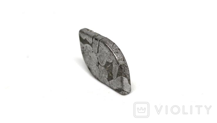 Заготовка-вставка з метеорита Seymchan, 1,3 г, із сертифікатом автентичності, фото №9