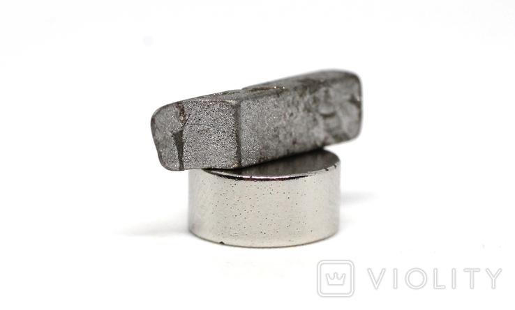 Заготовка-вставка з метеорита Seymchan, 1,2 г, із сертифікатом автентичності, фото №6