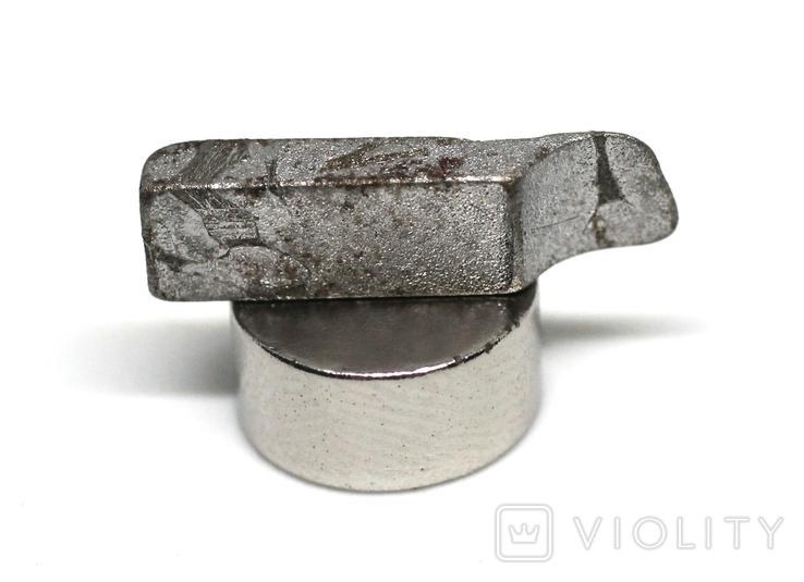 Заготовка-вставка з метеорита Seymchan, 1,2 г, із сертифікатом автентичності, фото №2