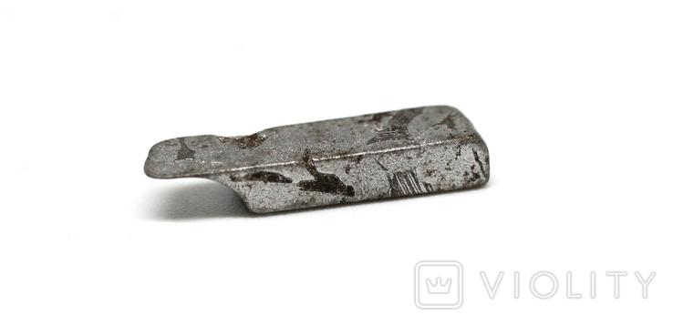 Заготовка-вставка з метеорита Seymchan, 1,2 г, із сертифікатом автентичності, фото №11